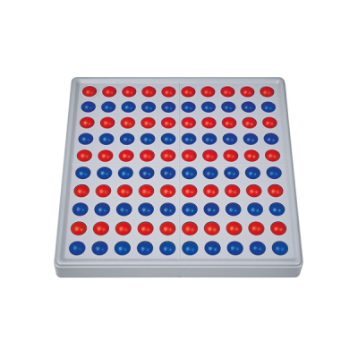 Abaco 100 - Model A - 10/10 ballen - Zonder getallen - Rood/blauw
