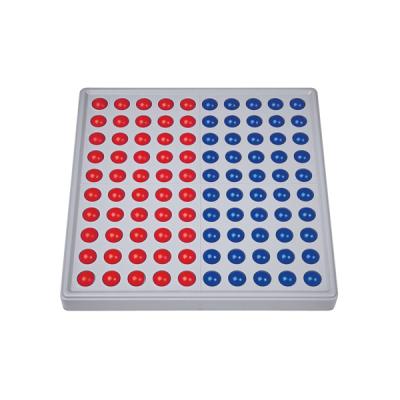 Abaco 100 - Model B - 5/5 ballen - Zonder getallen - Rood/blauw