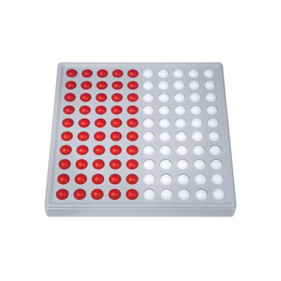 Abaco 100 - Model B - 5/5 ballen - Zonder getallen - Rood/wit