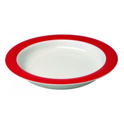 Bord - groot wit/rood nieuw