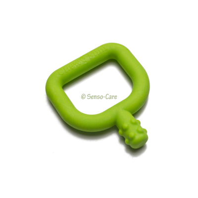 Chewy Tubes Mini groen met knobbels