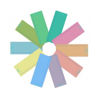 Gekleurde leesliniaal (set van 10)