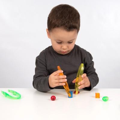 Doorzichtige gekleurde pincetten - Set van 12