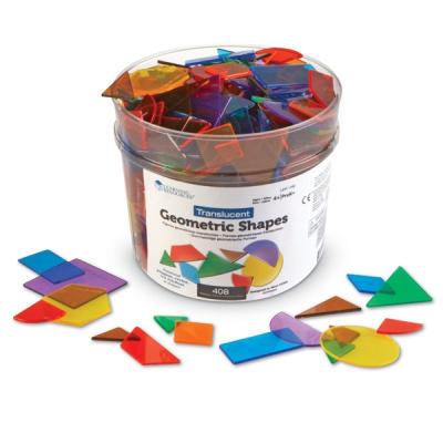 Learning Resources - Doorzichtige geometrische vormen - Set van 408