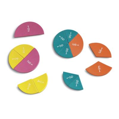 Learning Resources - Dubbelzijdige magnetische breukencirkels van foam