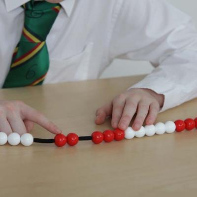 Kralenketting met 20 kralen voor leerkrachten