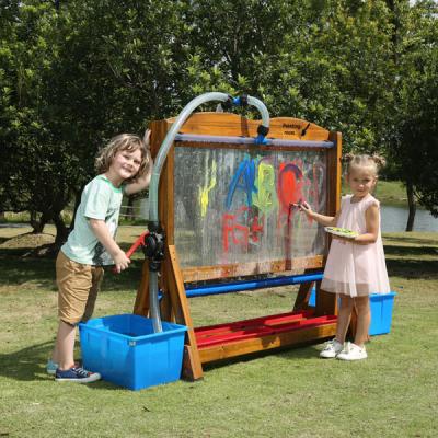 Outdoor doorzichtige schildersezel met watersysteem