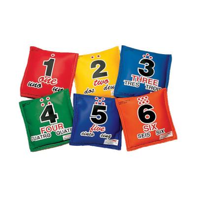 Pittenzakjes met cijfers (set van 6)