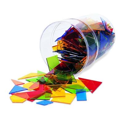Learning Resources - Power Polygons - Doorzichtige gekleurde geometrische vormen - Set van 450