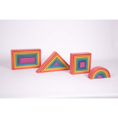 Rainbow Architect Set - Set van 28
