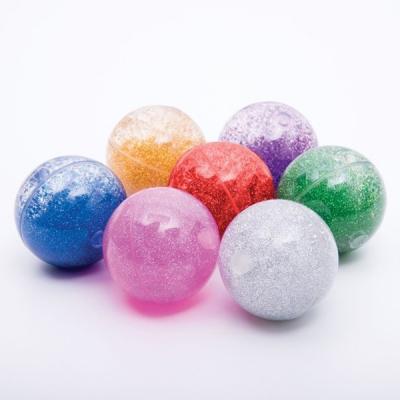 Regenboog glitterballen (set van 7)