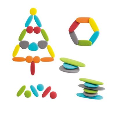 Edx - Regenboog kiezels - Junior - Aardetinten - Set van 36