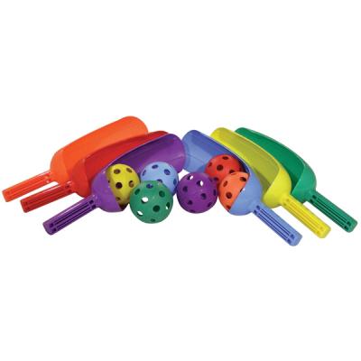 Scoop Set of 6 colored bats and balls
