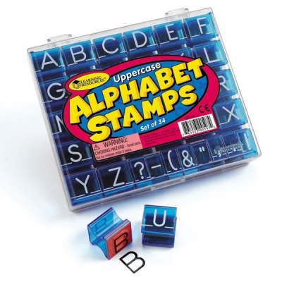 Learning Resources - Set alfabetstempels hoofdletters