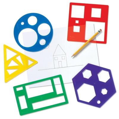 Learning Resources - Sjablonen met primaire vormen - Set van 5