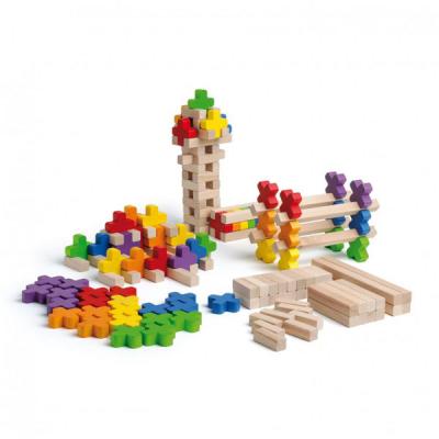 Spel met kruisvormige bouwsteentjes
