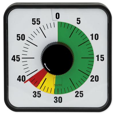 Tijdsduurklok - Automatik - Magnetisch - 19 x 19 cm. - Met stoplicht