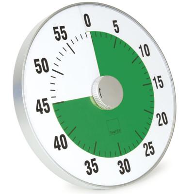 TimeTEX - Tijdsduurklok - Geluidloos - XL - Diameter 32 cm.