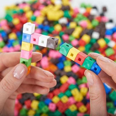 Verbonden blokjes klein (1 x 1 x 1)